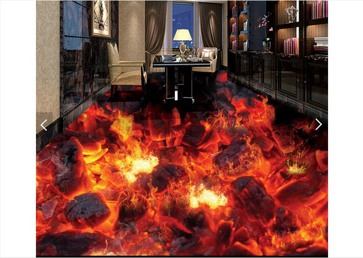 Customized 3d wallpaper 3d floor painting wallpaper Flame 3d bathroom floor tile in a sitting room 3D living room photo wallpaer book knowledge power channel creative 3d large mural wallpaper 3d bedroom living room tv backdrop painting wallpaper