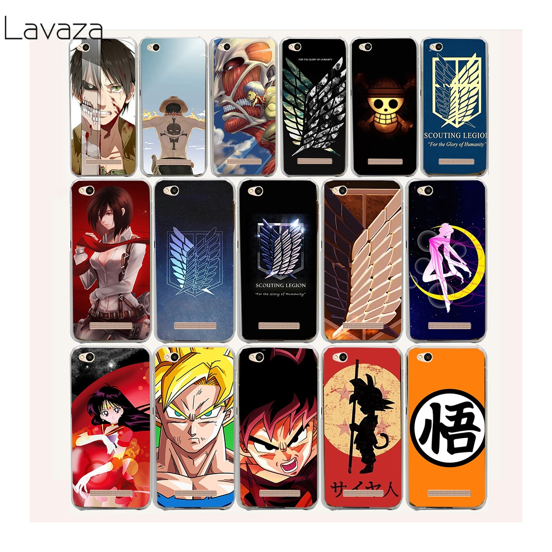 Lavaza 8af Anime Japanese attack on Titan Hard Case for Xiaomi Mi a1 5 6 5S Redmi 5 Plus 5a 4X 4 4A Pro Note 5a 4X 3S 3 Pro