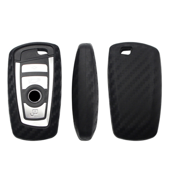 Carbon Fiber Pattern Soft Car Key Shell Case Cover For BMW 520 525 730li 740 118 320i 1 3 5 7 Series X3 X4 M3 M4 M5 Accessories image