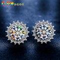 GR.NERH Fashion Jewelry Hearts & Arrows Perfect Cut Cubic Zirconia Crystal Stud Earrings for Women Jewelry Drop Shipping