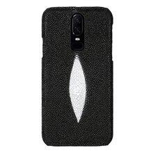 Naturale Pelle di Razza di pesce Perla cassa del telefono delle cellule Per Oneplus 6T 5 5T 6 7T 8 Pro copertura Per uno più 7 7 Pro 7T Di Lusso Pro