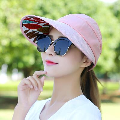 Dropwow 2018 Hot 1PCS women summer Sun Hats pearl packable sun visor ... 14817830d695