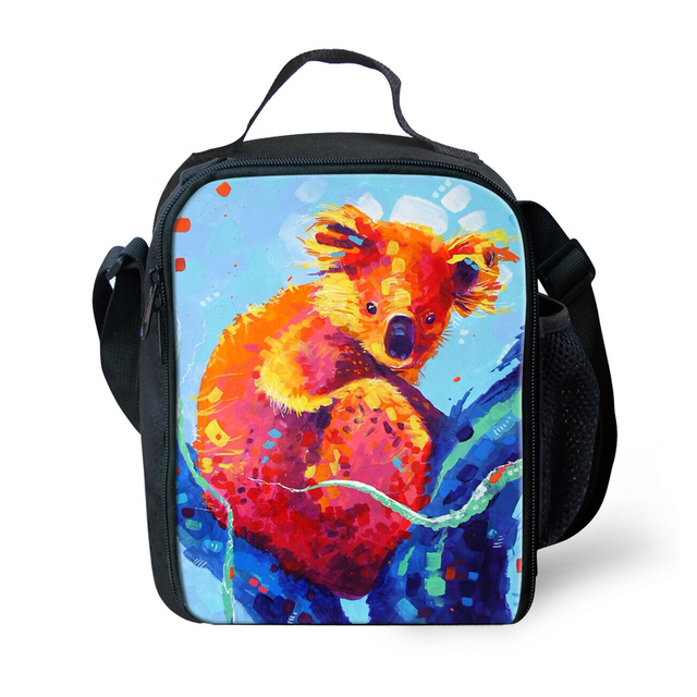 ThiKin Cute Kids Lunch Box for Boys and Girls, Colorful Animal Lunchbox Bag for Kids,Thermal lunch Bag for Teenager Picnic Box,