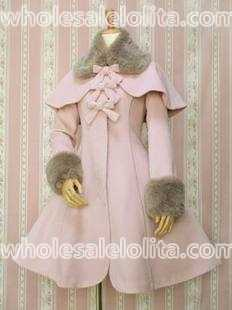 Лидер продаж, розовое шерстяное теплое зимнее милое пальто в стиле Лолита зимние длинные пальто все размеры для продажи