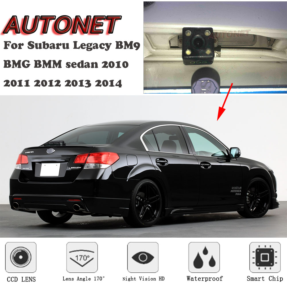 AUTONET Backup Rear View Camera For Subaru Legacy BM9 BMG BMM Sedan 2010 2011 2012 2013 2014 Night Vision License Plate Camera