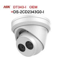 IP Camera DT343 I=DS 2CD2343G0 I 4MP Hikvision OEM Network CCTV Camera H.265 CCTV Security POE WDR SD Card Slot 4pcs/lot