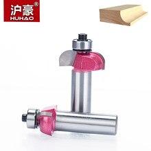 Huhao 1 Pc Schacht 1/2 Radius Ronde Groovende Inham Doos Beetje Cnc Ronde Neus Router Bits Voor Hout Industriële Kwaliteit houtbewerking Endmill