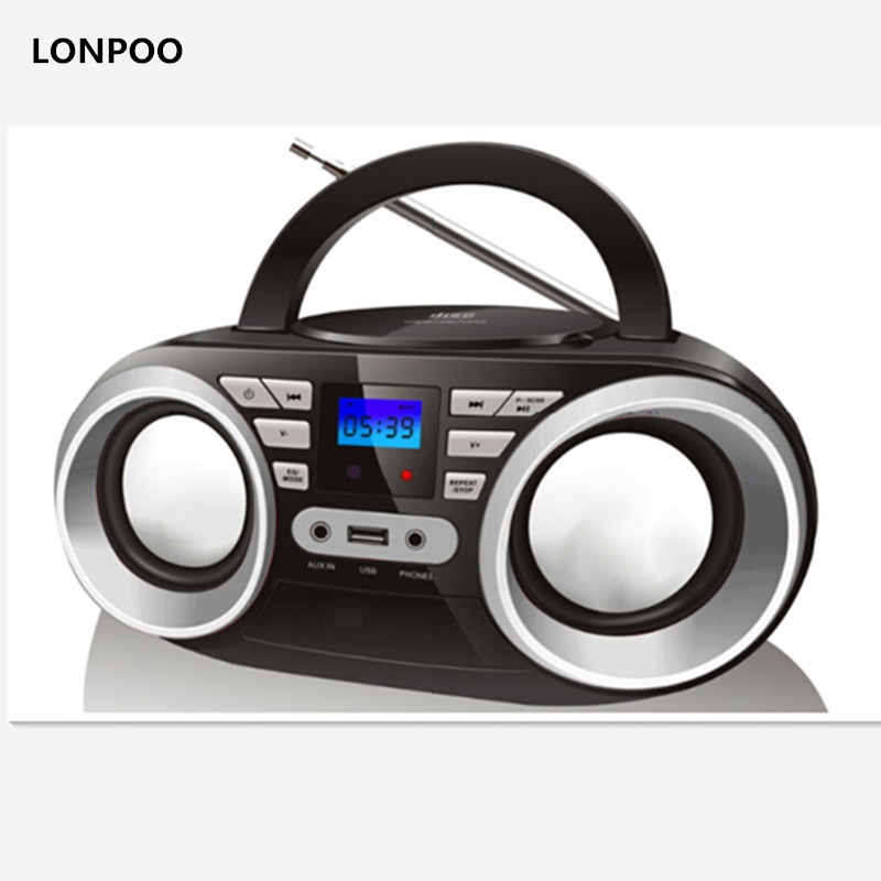 lonpoo new cd player mp3 speaker mini portable bluetooth. Black Bedroom Furniture Sets. Home Design Ideas