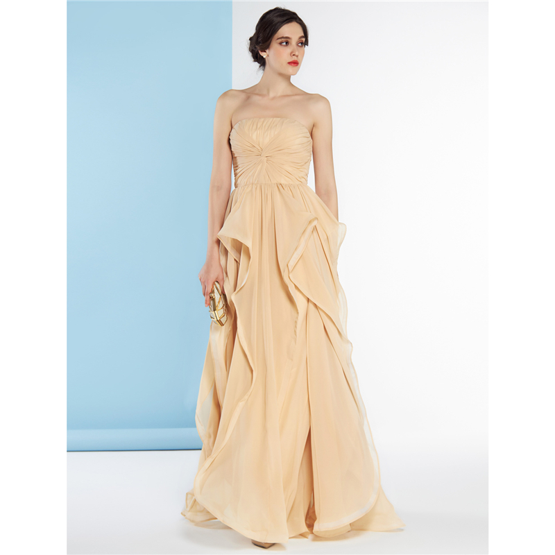 LAN TING BRIDE A Line Strapless Backless Bridesmaid