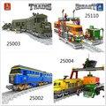 Kits de edificio modelo compatible con lego ausini tren sucesión 3d modelo de construcción bloques educativos juguetes y pasatiempos para niños