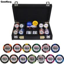 14 г покерные фишки набор с кожаный чемодан казино Пшеница покер 14 цветов Техасский Холдем по невысокой фабричной цене Высококачественный чип