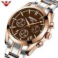 Армейские часы NIBOSI  мужские фирменные полностью Стальные кварцевые часы с автоматической датой  деловые часы  спортивные элегантные водоне...