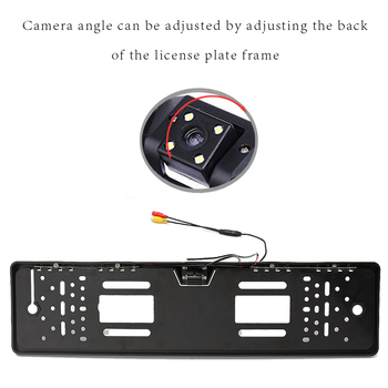 AMPrime 140 Degree Waterproof European License Plate Frame Backup Car Number Rear View Camera 4 LED Night Vision Car-styling 1
