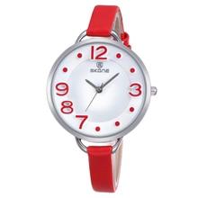 SKONE Woman Date Rome Silver Case Leather Strap Watches Lady Fashion Casual Women Watch Hours Analog Quartz Wristwatch Female