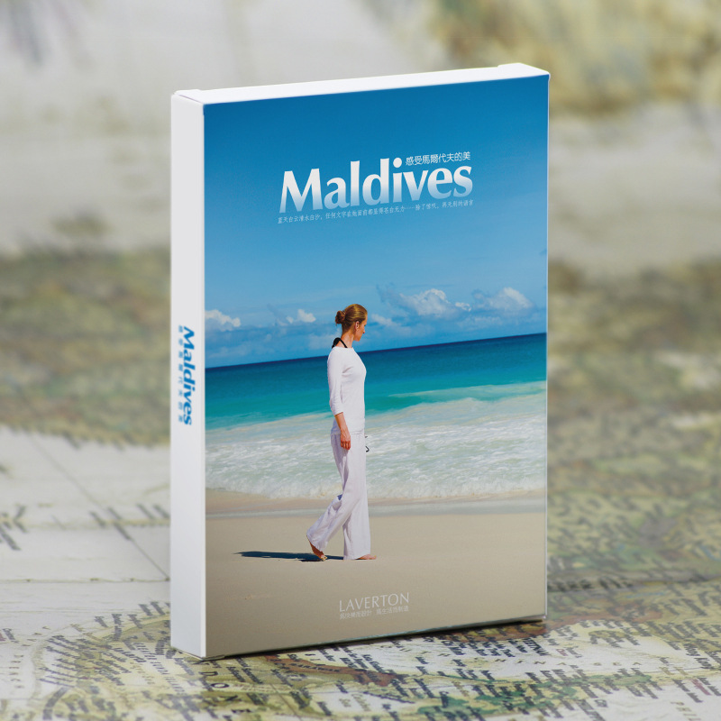 30pcs in one, Postcard,Take a walk on the go,Maldives ,Christmas Postcards Greeting Birthday Message Cards 10.2x14.2cm the one in a million boy
