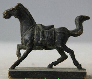 จีนโบราณสีบรอนซ์ราศีปีม้ารูปปั้นราชวงศ์อิมพีเรียลตราประทับตราS0706ส่วนลด35%|รูปปั้นและงานประติมากรรม|บ้านและสวน -