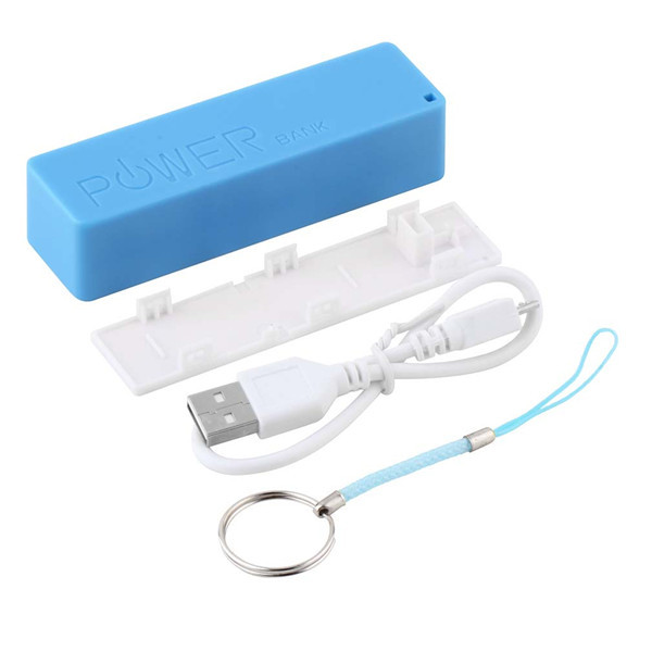1pc Blue Mobile Power Case Box Usb 18650 Battery Cover Keychain For Iphone For Samsung For Mp3 Drop Shipping Great Varieties Chargers