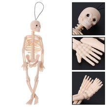 1PC Skeleton Human Model Skull Full Body Mini Figure Toy Phone Hanger Halloween Kids Novelty Horror Gag Jokes Toys(China)