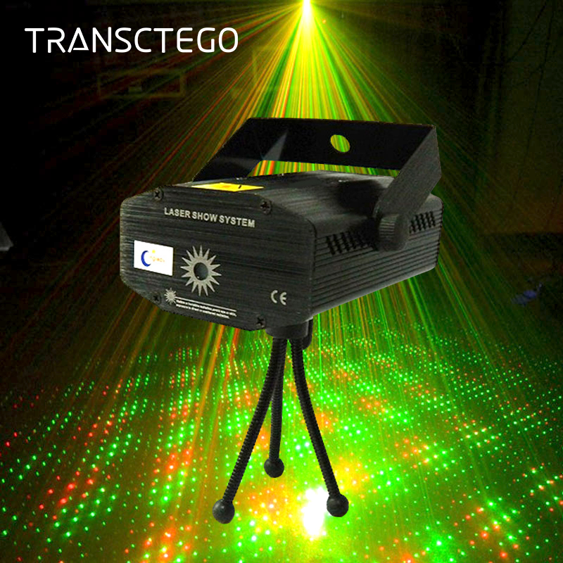 Led Laser Light Show Projector Disco Stage Lights Mini Portable Acoustic Sound Control Night Lamp For Party Bar Xmas Disco Lamp