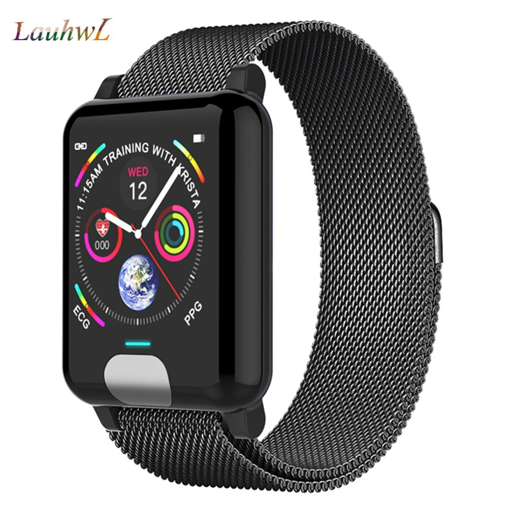 E04 Smart Band Watch Fitness Tracker ECG PPG Blood Pressure Heart Rate Monitor Smart Watch Waterproof