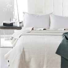 [Zetta] 100% натуральный хлопок стеганые Простыни Детские темно-зеленый Премиум Покрывало Premium Постельные принадлежности 200*230 см 0005