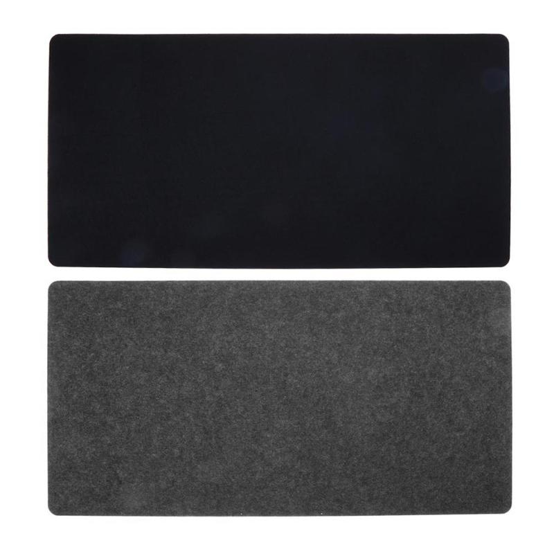 Simple Felt Cloth Mouse Pad Keyboard Cushion Office Home Desk Mat Supplies 630 x 325 x 2mm Black/ Dark grey l 15 gaming mouse pad mat black 213 x 270 x 2mm