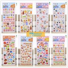 8pcs lot Korea Styling Kawaii 3D Cartoon Animal Estate zoo PVC Diary Bubble Stickers Decorative For