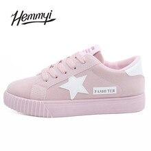 Hemmyi Новинка 2017 года Осенняя мода женская обувь женская повседневная обувь на шнуровке tenis feminino Лидер продаж Basket Femme обувь суперзвезды