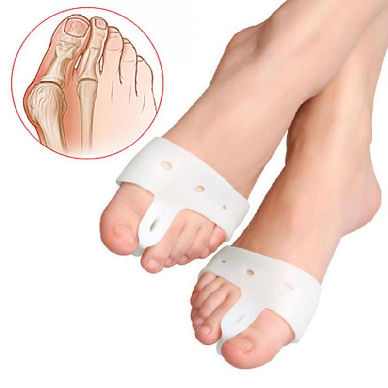 1 пара Силиконовый гель для ног пальцы ног сепаратор фиксатор для большого пальца профилактика бурсита Настройщик профилактика косточек на ноге крем для ног Z3 купить на AliExpress