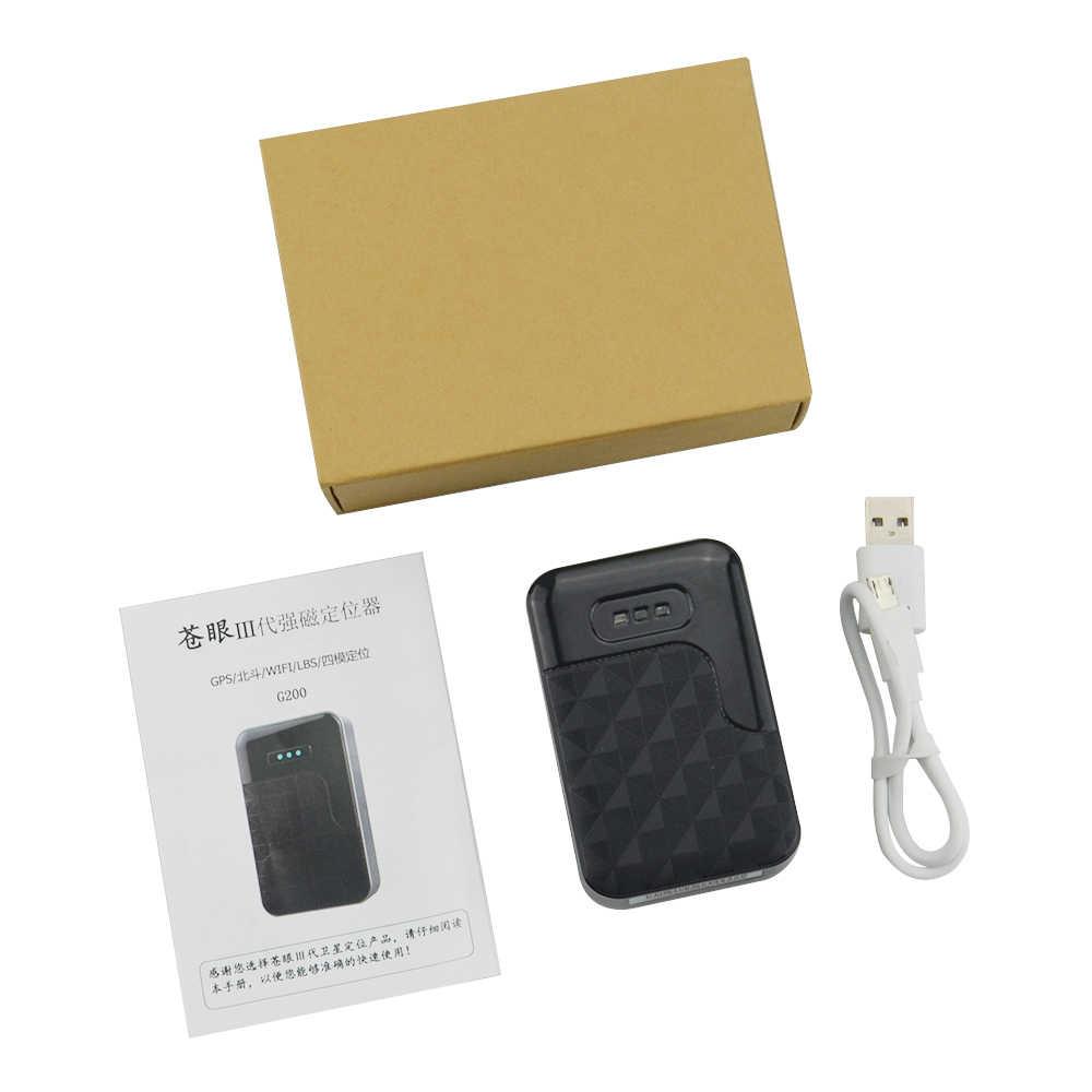 6000 mah G200 com Super Ímã Bateria GPS Tracker Do Veículo Car Locator com Build-in GPS/GSM Antena anti-tamper Alarme PK TK905
