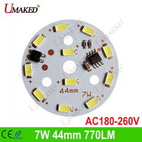 7W 220V SMD5730 11leds 550 605lm No Need Driver PCB With Leds Installed For Bulb Light