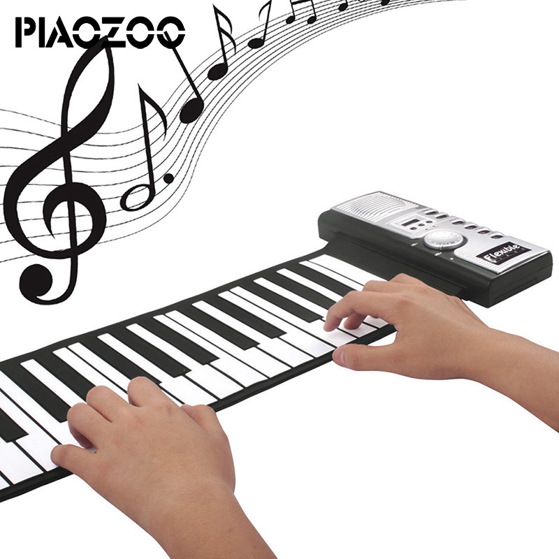 Flexible 61 Keys musical keyboard professional piano electric silicon piano Roll-up Keyboard Piano sound sustainable toys P20