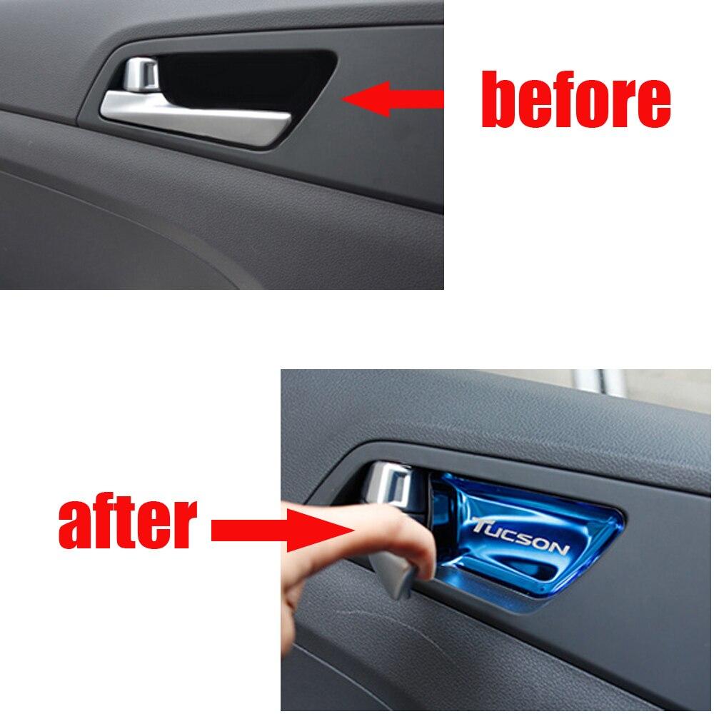Для Tiguan L Автомобильная внутренняя ручка отделка чаши декоративная крышка блестящая наклейка аксессуары для автомобиля Стайлинг