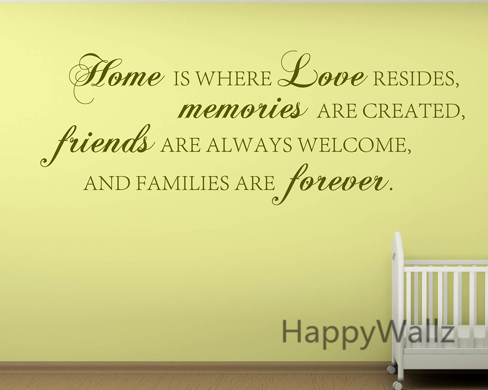 Home Love Memories Friends Forever Family Quote Wall Stickers ...