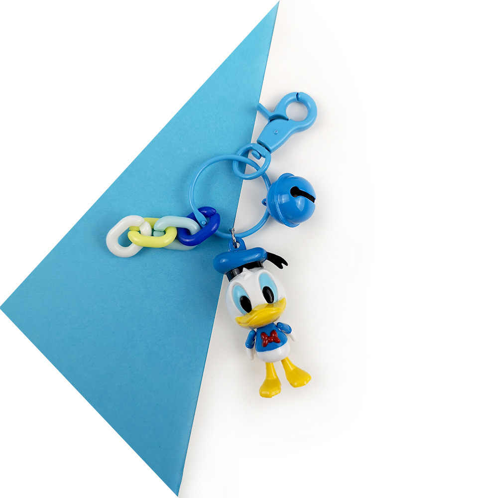 2019 Novos Pato Donald Chaveiro Casal Chaveiro Anime Figura PVC Morty Keyholder Chaveiro Keychain bonito Brinquedo Presentes de Aniversário