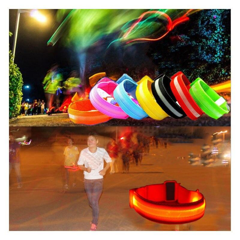 グロー Led ライトアップ腕ベルト点滅ブレスレットバングル応援小道具レイヴグローパーティークリスマスナヴィダード  グループ上の ホーム&ガーデン からの 蛍光パーティ用品 の中 1
