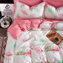 c59bd0d962 Flamingos Parkshin Conjunto Lençóis da Cama Conjunto Rosa Decor Capa de  Edredão Consolador Colcha Adulto Cama