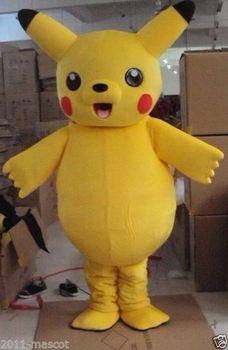 Piękny Pikachu kostium maskotki dla dorosłych garnitur dla każdego rozmiaru na imprezę bezpłatną wysyłkę na cały świat tanie i dobre opinie AIWEIXIN Zwierzęta i błędy Kostiumy