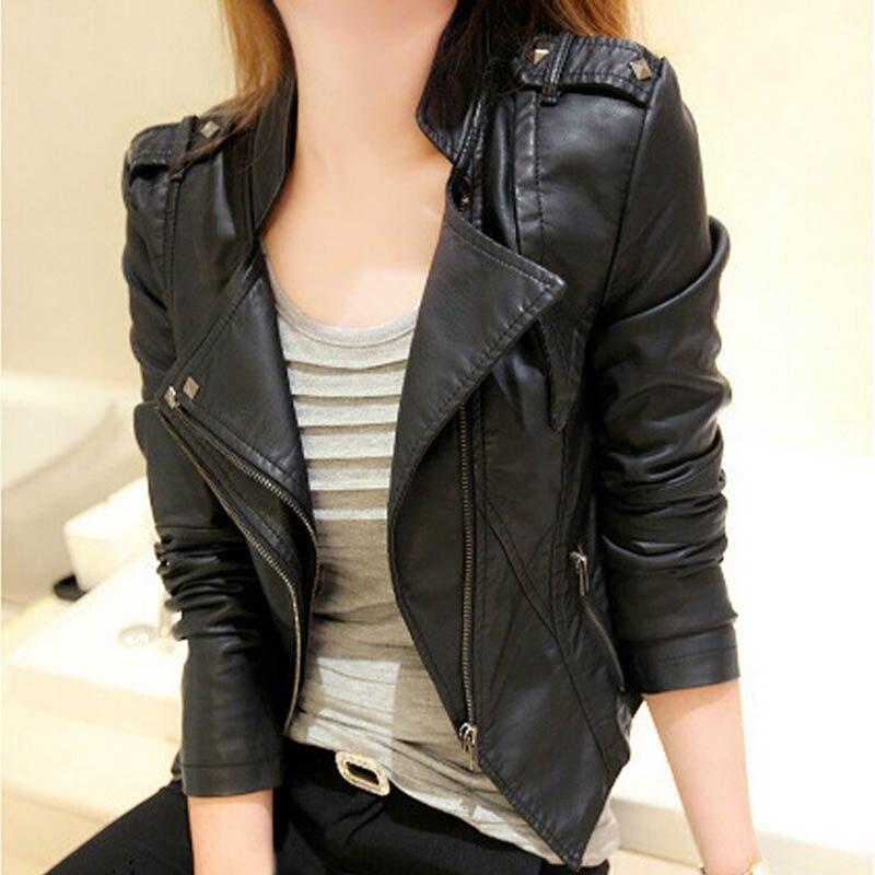 3XL Fashion New Women PU Leather Coat 2016 Autumn Short Women Jackets Casual Slim Fit Motorcycle Blazer Suede Overcoat,LB2538