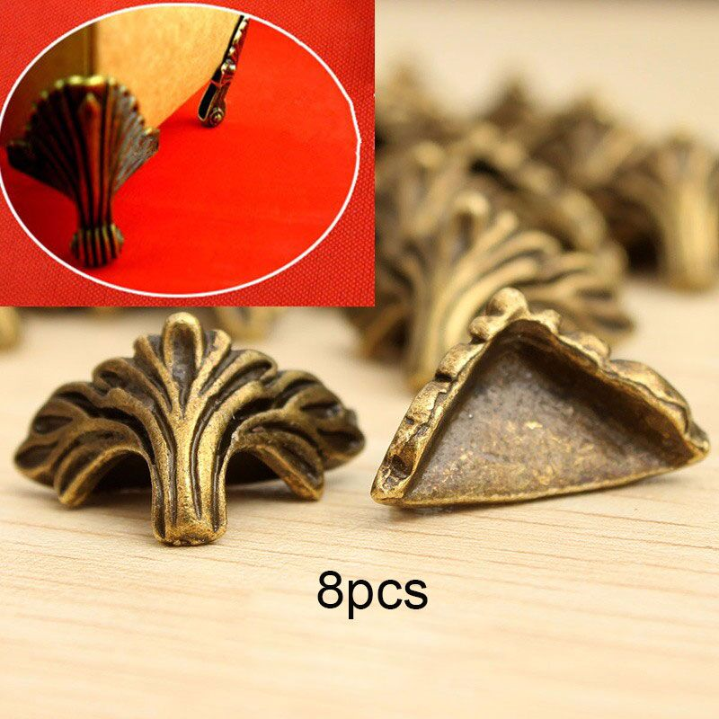 8Pcs/Lot Antique Jewelry Box  Corner Foot Protector Desk Box Edge Antique Bronze Pattern Carved 19mm x 11mm8Pcs/Lot Antique Jewelry Box  Corner Foot Protector Desk Box Edge Antique Bronze Pattern Carved 19mm x 11mm