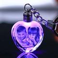 Personalizada de cristal bebé foto álbum LED cambio de luz de cristal personalizado álbum de fotos para el amante de la familia mejor regalo de la boda