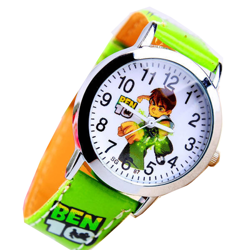 Hot Sale New Fashion Cute Cartoon Children Watches For Boys Kids Quartz Cool Sport Strap Leather Wristwatch Gifts Clock Relojes