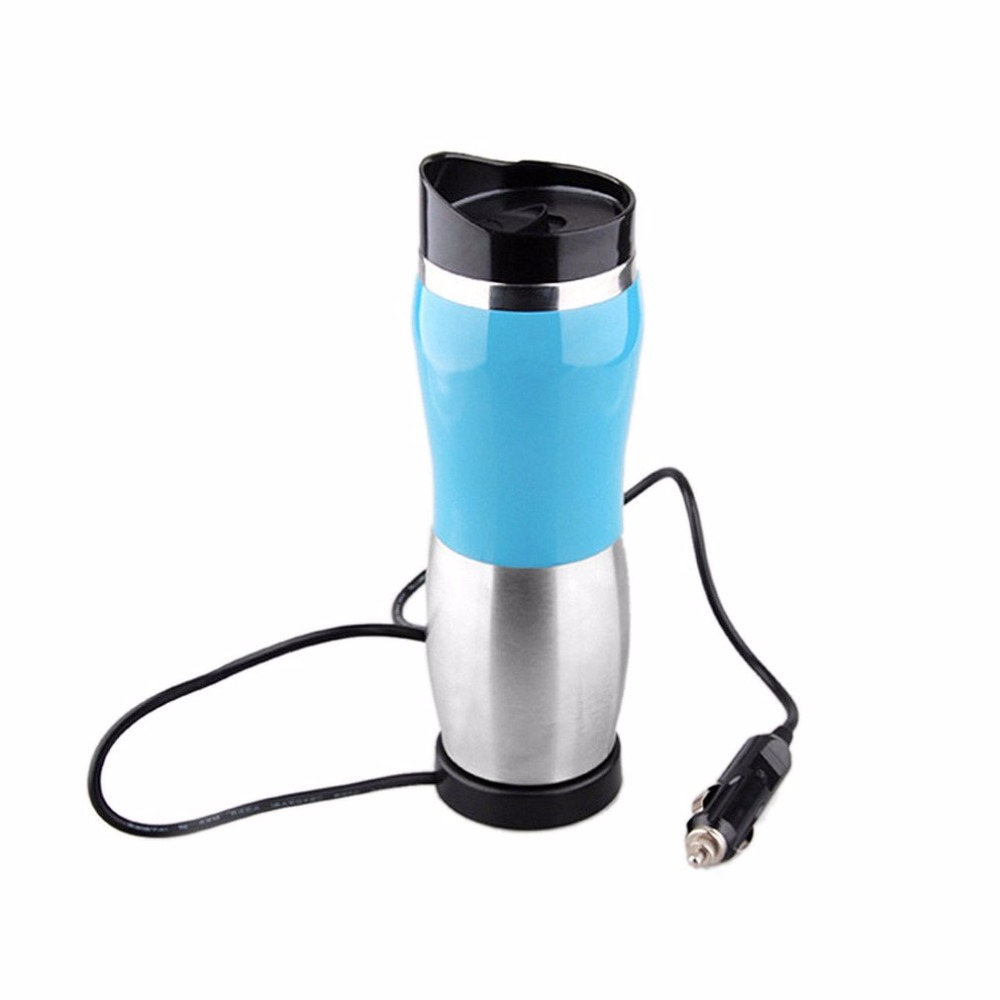 12v Stainless Steel Car Auto Heating Cup Kettle 400ml Hot