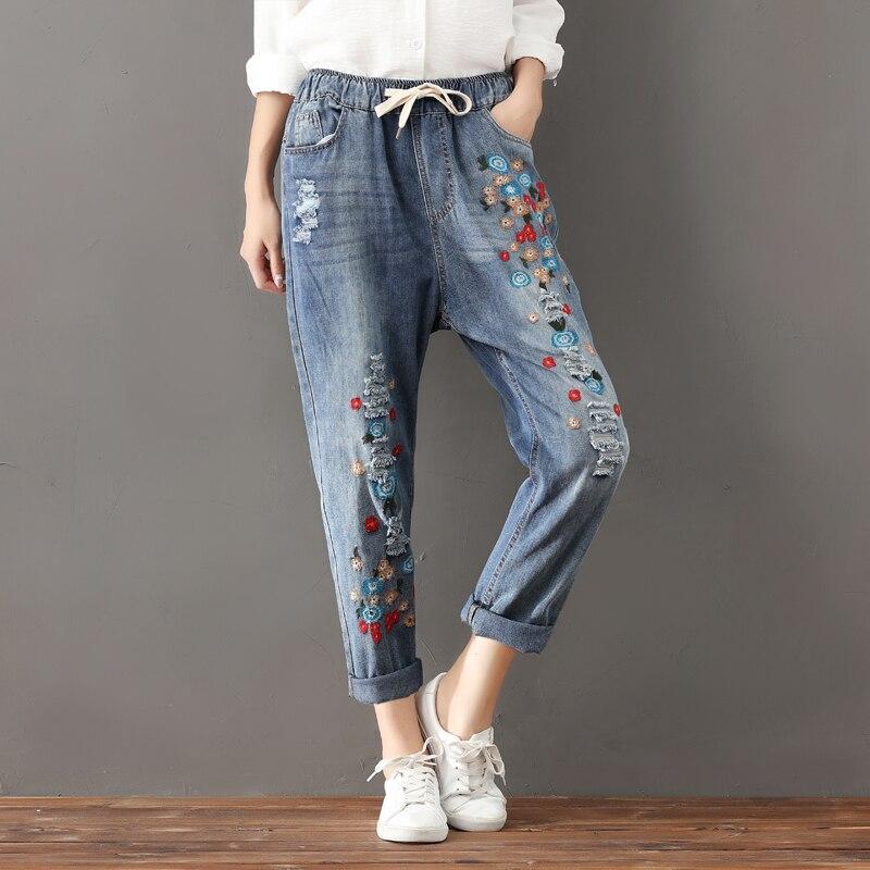 Cheap Wholesale 2019 New Autumn Winter Hot Selling Women's Fashion Casual  Denim Pants FP95