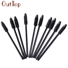 100 PCS Disposable Eyelash Brush 10cm Mini Brush Mascara Applicator Spoolers Makeup Tools JAN20
