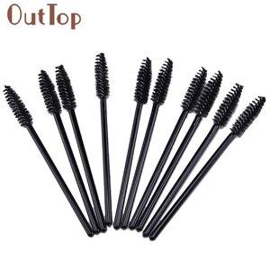 100 PCS Disposable Eyelash Brush 10cm Mini Brush Mascara Applicator Spoolers Makeup Tools JAN20