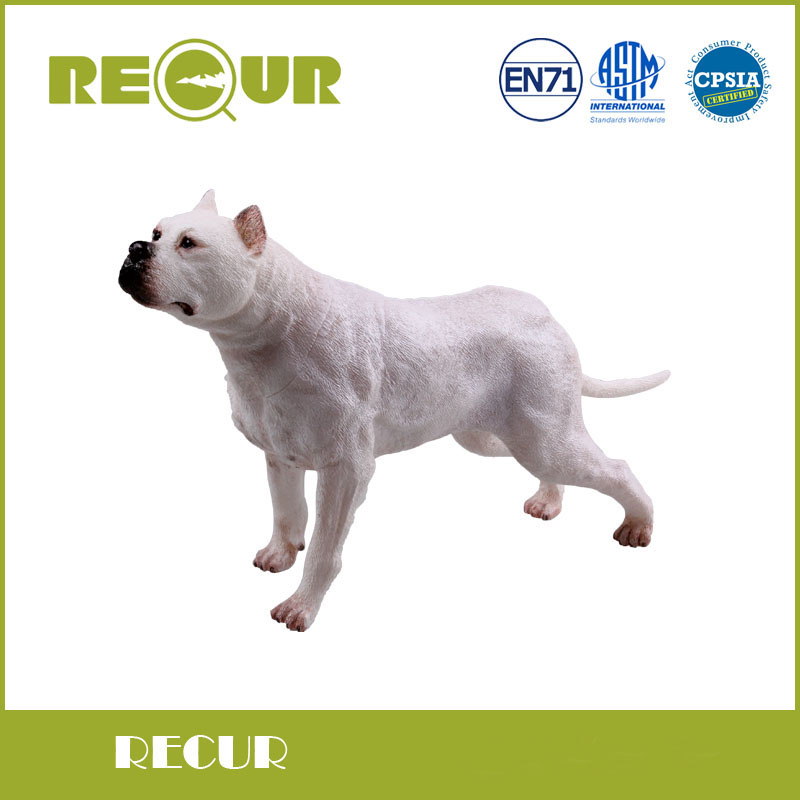 где купить Recur Hot Sale Dogo Argentino Pet Model Highly Detailed Hand Painted PVC Soft Dog Animal Action Figures Toy Boys Gift Collection по лучшей цене