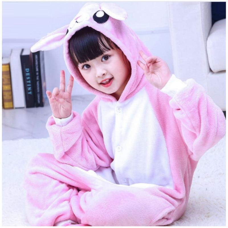 Childrens Siamese Cartoon Pajamas Children Cosplay Fleece Homewear Kids Lovely Home Clothes Coral Flannel Sleepwer B-5972
