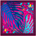 SALUTTO 100*100cm New ladies' twill Silk scarves 2016 abstract painted leaves pattern digital print female twill silk shawls