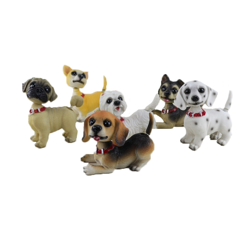 Home Decoration Accessories Resin miniature Puppy Mini
